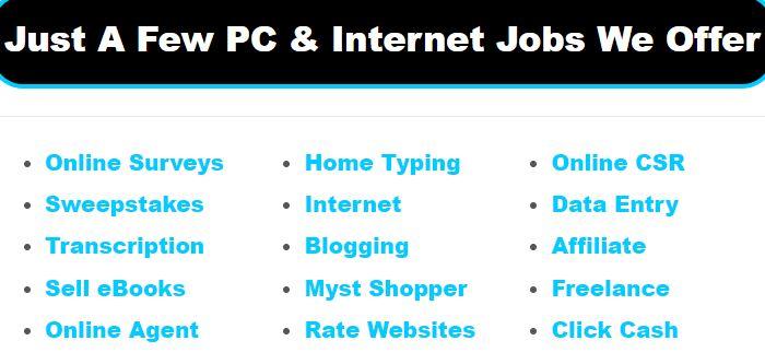 Computer Jobs Samples