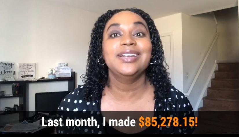 7 minutes daily profits fake testimonial - black girl