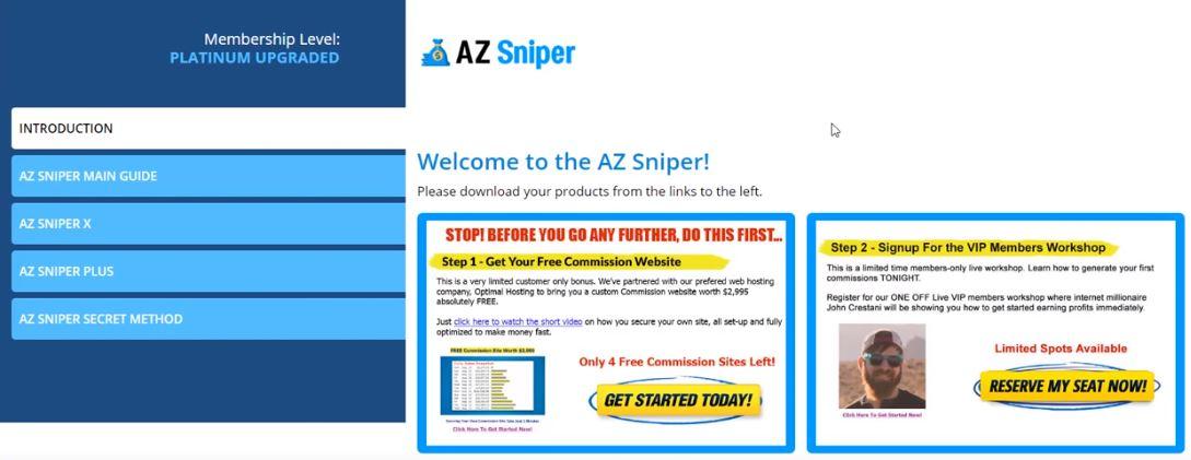 AZ Sniper members area