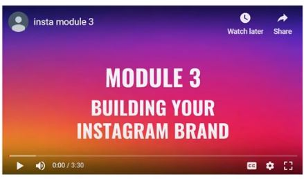 Module 3- Building Your Brand
