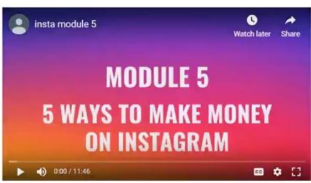 Module 5- Ways to make money with instagram