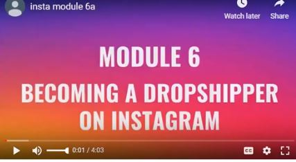 Module 6- Becoming a dropshipper on instagram