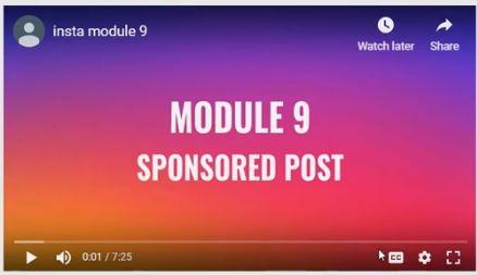 Module 9 - Sponsored post
