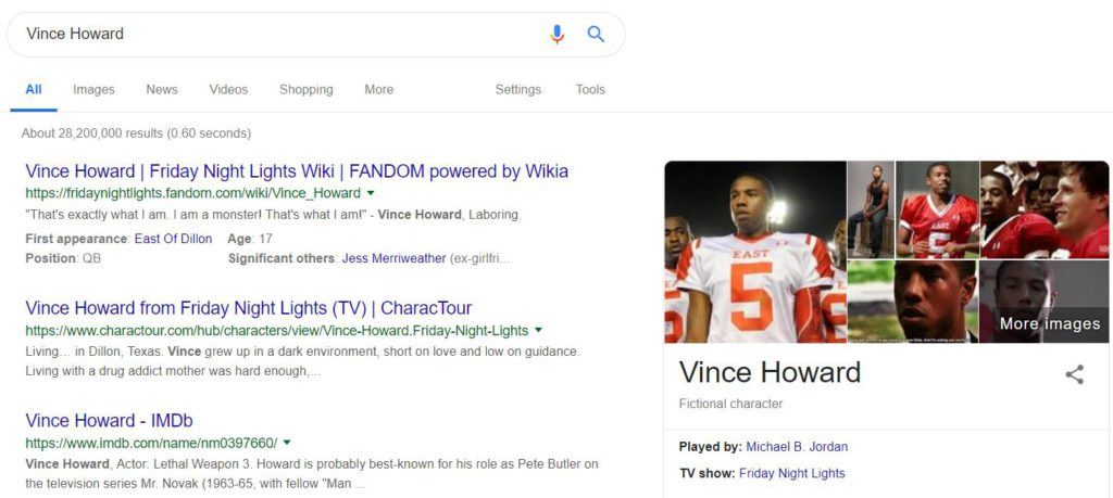 Vince Howard Googled