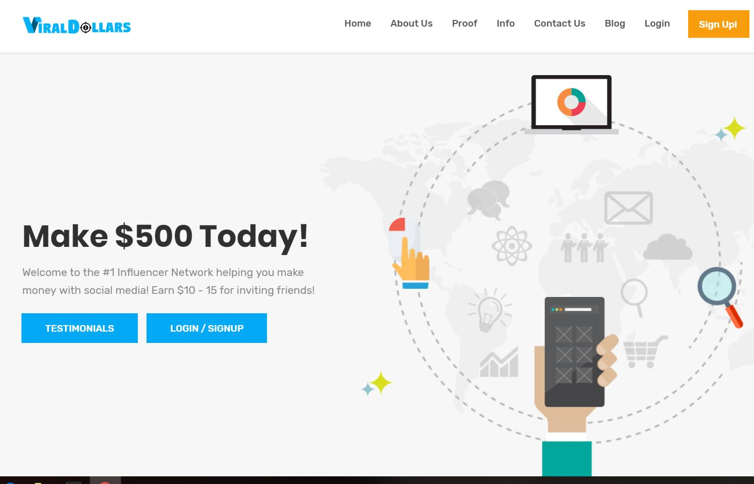 Viral Dollars Homepage