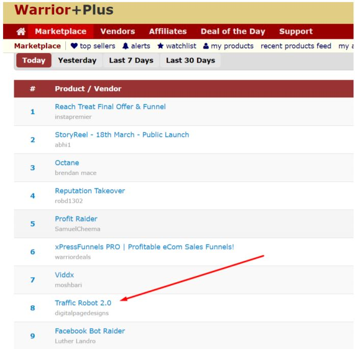 warrior plus search result