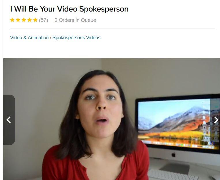 Fiverr video testimonial (girl)