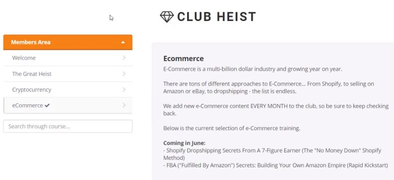 The Great Heist Review Members Area