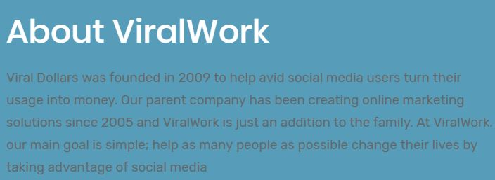 viralwork about page