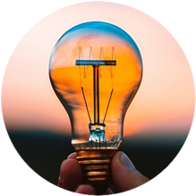 lit bulb, mindset