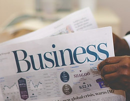newspaper with business side