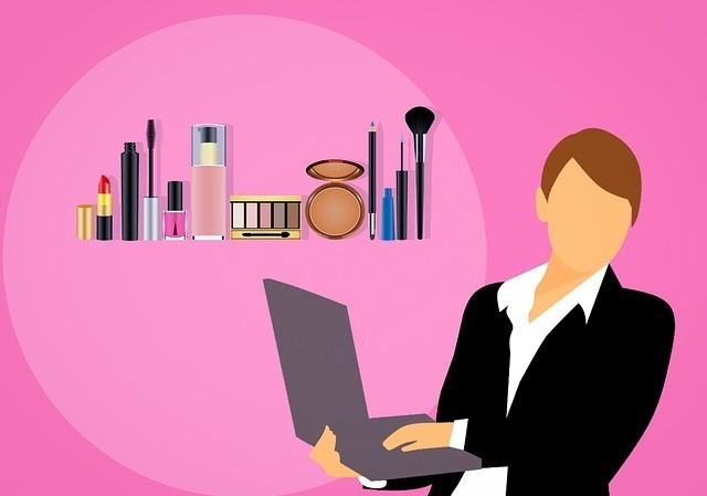 woman selling affiliate products