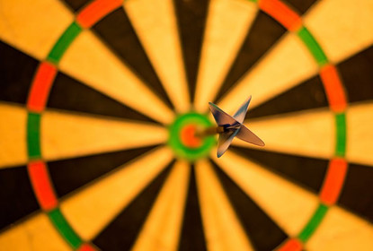 goal dart bulls-eye