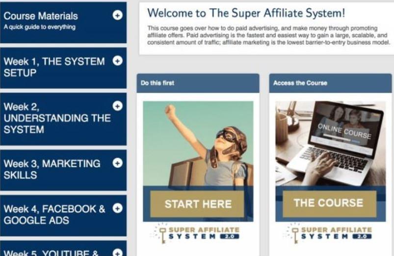 super affiliate system 3.0 landing page
