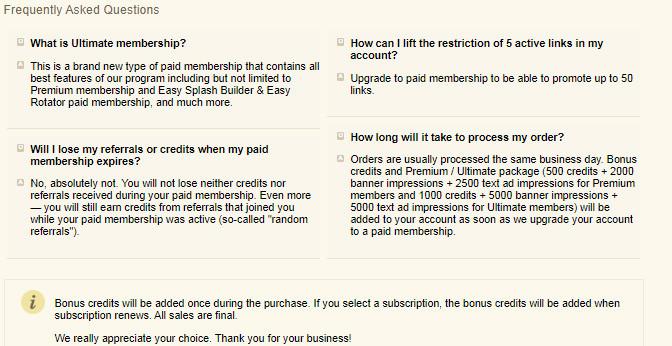 easyhits4u FAQ